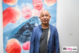 Exhibition Preview with Mr Fang Lijun at Hanart TZ Gallery